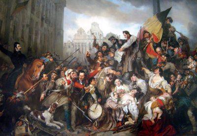 Septemberdagen in 1830 - Grote Markt in Brussel - Gustaaf Wappers