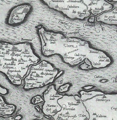 Situatie rond Sirjansland rond 1500