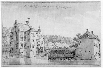 Slot Sandenburg - tekening Jan de Beijer 1744