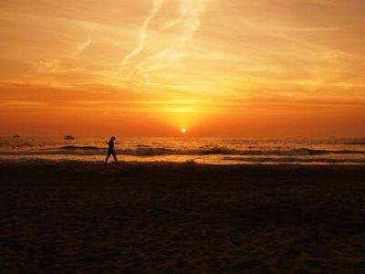 Stilte en bezinning aan het strand