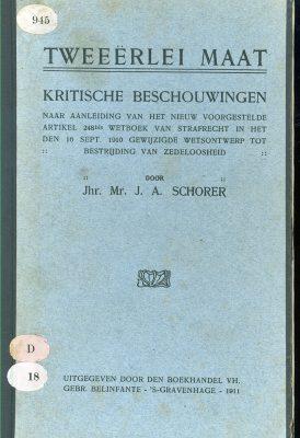 Tegenwind voor wetsartikel zedenloosheid 1911