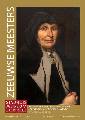 Tentoonsellingoster Zeeuwse Meesters met daarop het portret van een dame van Borselaer