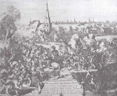 Tijdens het beleg van Antwerpen, de slag om de Oosterweel