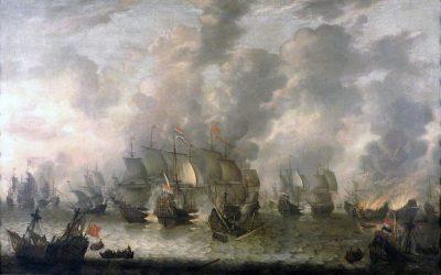 Tweedaagse Zeeslag door Abrahamsz. van Beerstraten