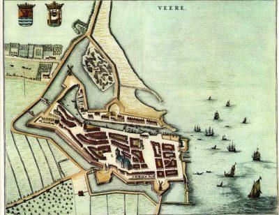 Veere omstreeks 1650 naar een kaart van Blaeu