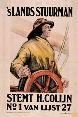 Verkiezingsaffiche voor Colijn