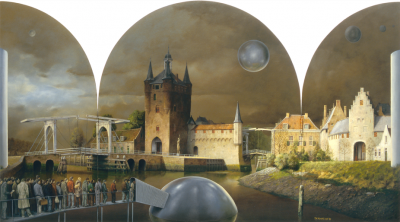 Vertrek uit Zierikzee geschildert door Theo Voorzaat