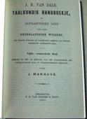Vijfde druk van het Taalkundig Handboekje uit 1881 bewerkt door Johan Manhave