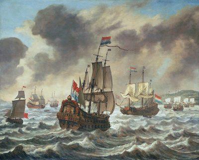 Voor de slag bij Duins, schilderij Reinier Nooms