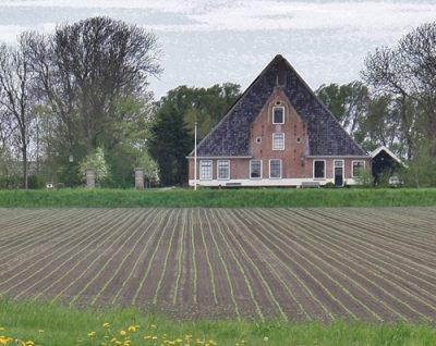 Voorbeeld stolpboerderij
