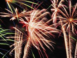 Vuurwerk - afsluiting van een feest.