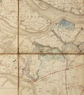 Waterpoort-gebied rond 1830