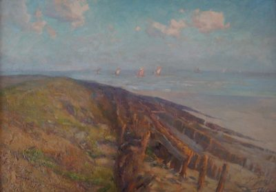 Westerschelde bij Vlissingen 1916 – Olieverf op doek – 99 x 68 cm