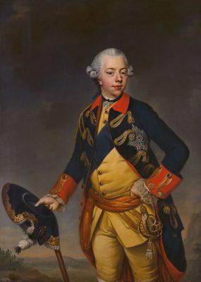 Willem V Prins van Oranje Nassau - Johann Georg Ziesenis (1770)