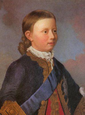 Willem V als kind