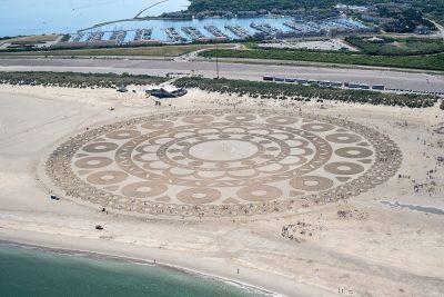 Zeeuwse knoop op het strand