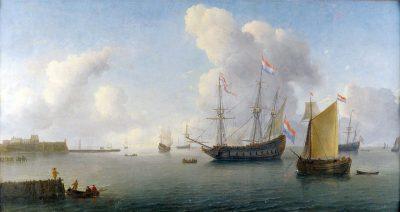 Zicht op de rede van Fort Rammekens - schilderij Willem Hermansz. van Diest