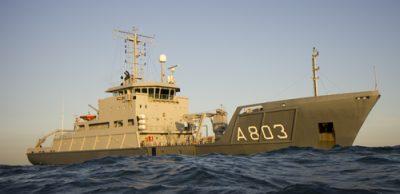 Zr.Ms. Luymes op de Noordzee. (Foto: Jaime Karremann/ Marineschepen.nl)