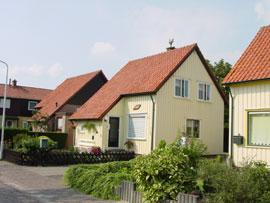 Zweedse woningen in Nieuwerkerk