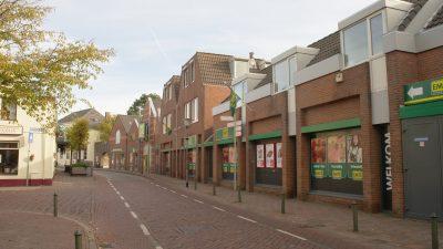 de winkelstraat in het centrum