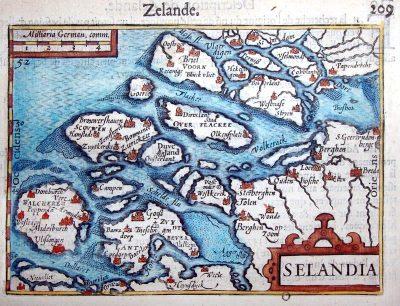 Kaart van de situatie na het gereedkomen van de haven en de bouw van de stad