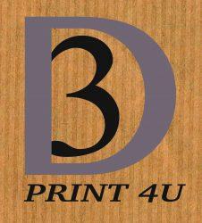logo 3D print 4U