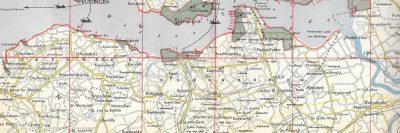 De overstroomde gebieden van Zeeuws-Vlaanderen
