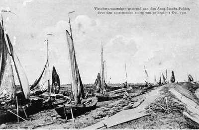 restanten van de vloot bij Anna Jacobapolder