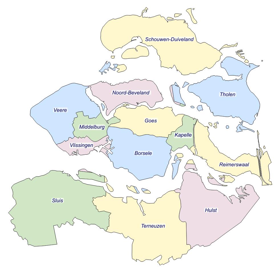 zeeland kaart